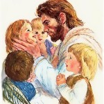"""Christ and the Children,"" by Frances Hook"