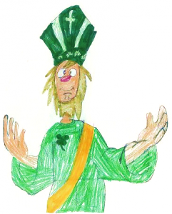 St. Patrick, as drawn by one of our children