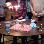 Lighting the Hanukkah Candles
