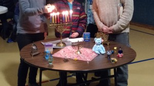 Lighting the Hanukkah Candles
