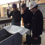 Looking over the preliminary plans for the Van Orsdel Commons