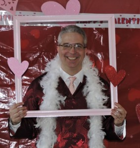 "Chaplain Chris gets in on the ""photo booth"" fun"