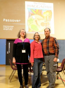 Edie Kort (volunteer), Janet Tatz, and Jim Nallick - Our Jewish Education Team!