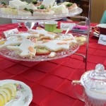 Yummy food adorned each table!