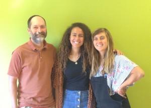 Jewish Mentor, Jim Nallick, and guests from Israel, Sarah and Ayala